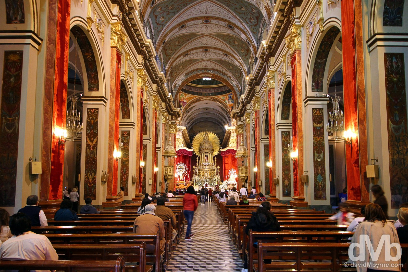 The interior of the Catedral in Salta, northern Argentina. September 5, 2015.