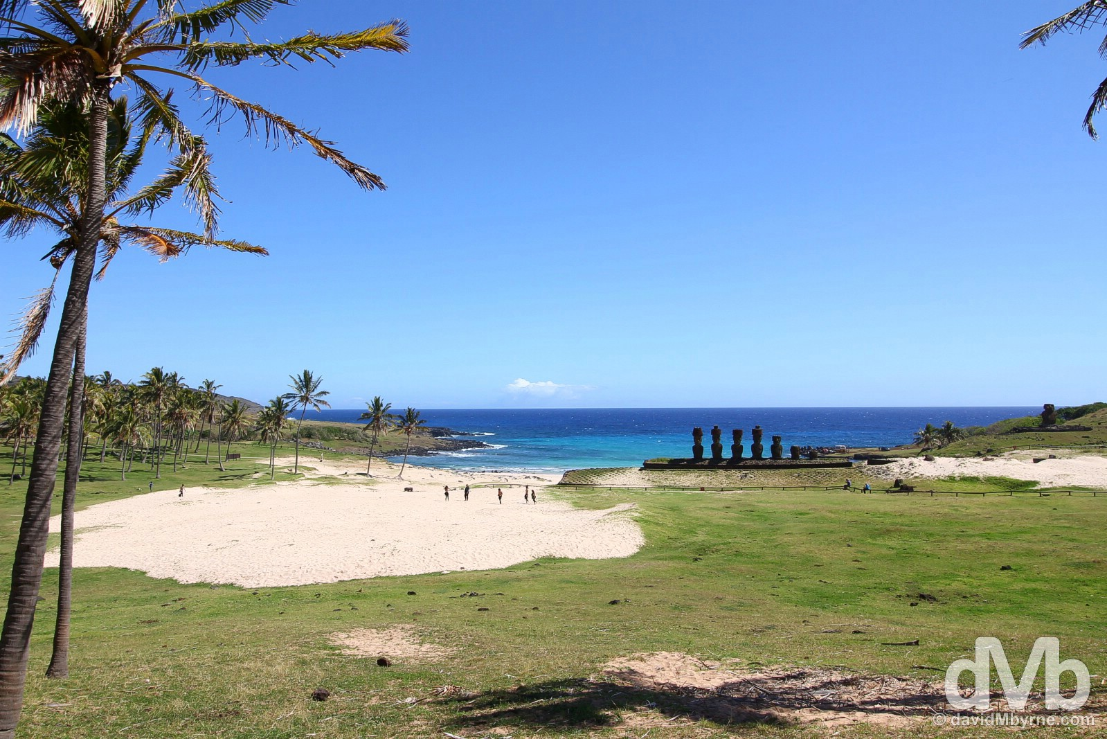 Anakena, Easter Island, Chile. October 1, 2015.