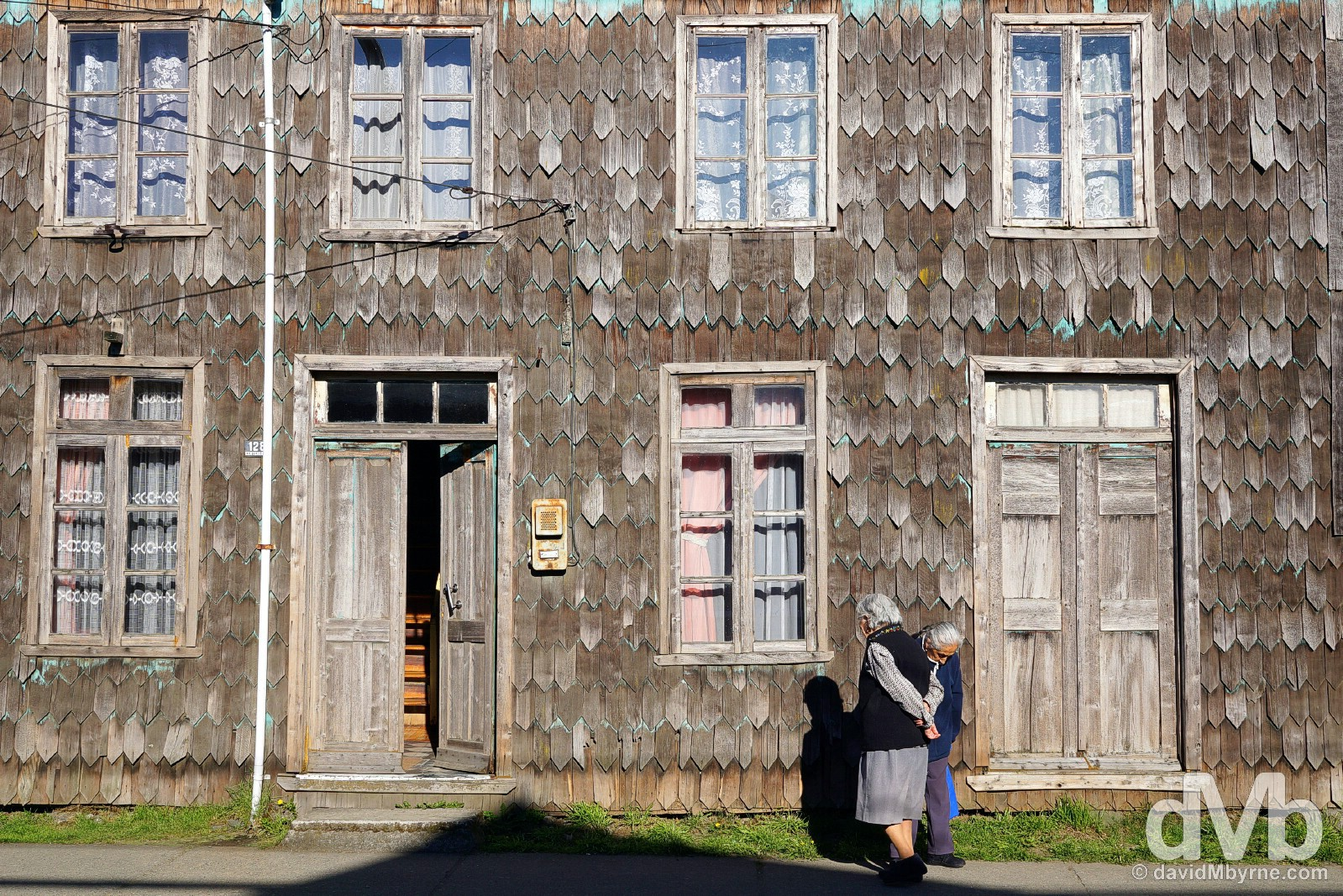 Shingles & shadows. Conchi, Chiloe, Chile. October 22, 2015.