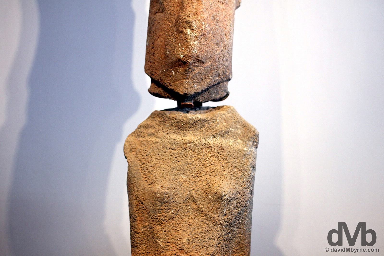 A female moai on display in the Museo Antropologico P. Sebastian Englert, Hanga Roa, Easter Island, Chile. September 30, 2015.