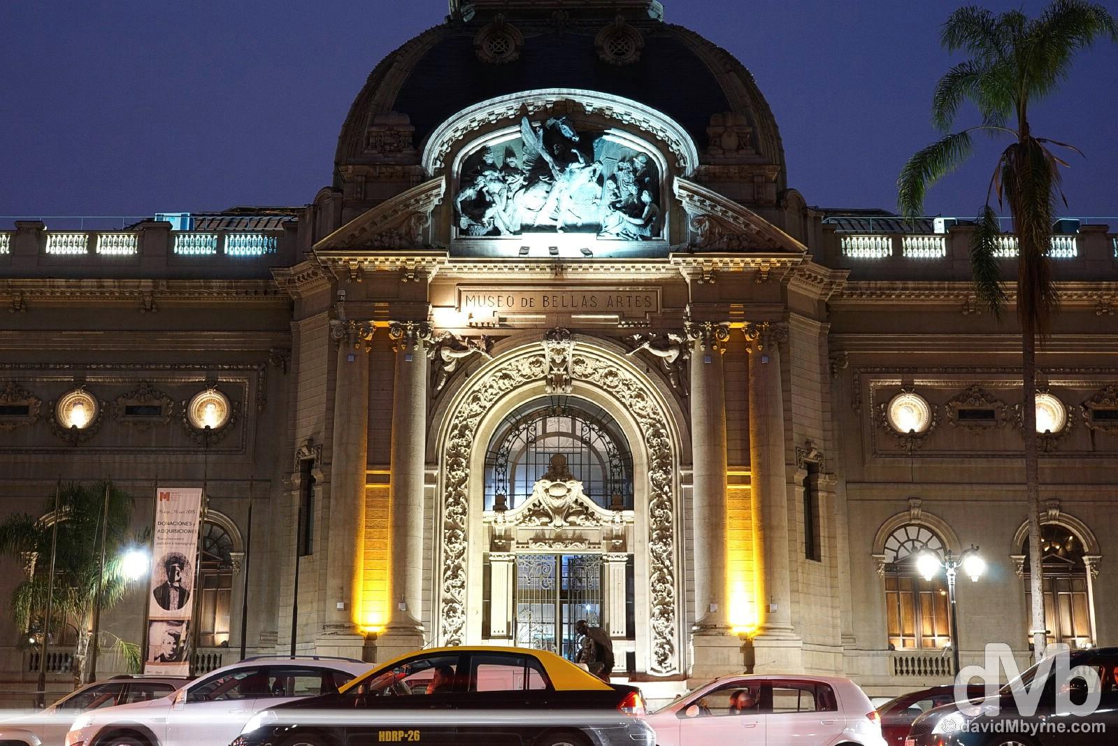 Museo Nacional de Belle Artes in Santiago, Chile. October 5, 2015.