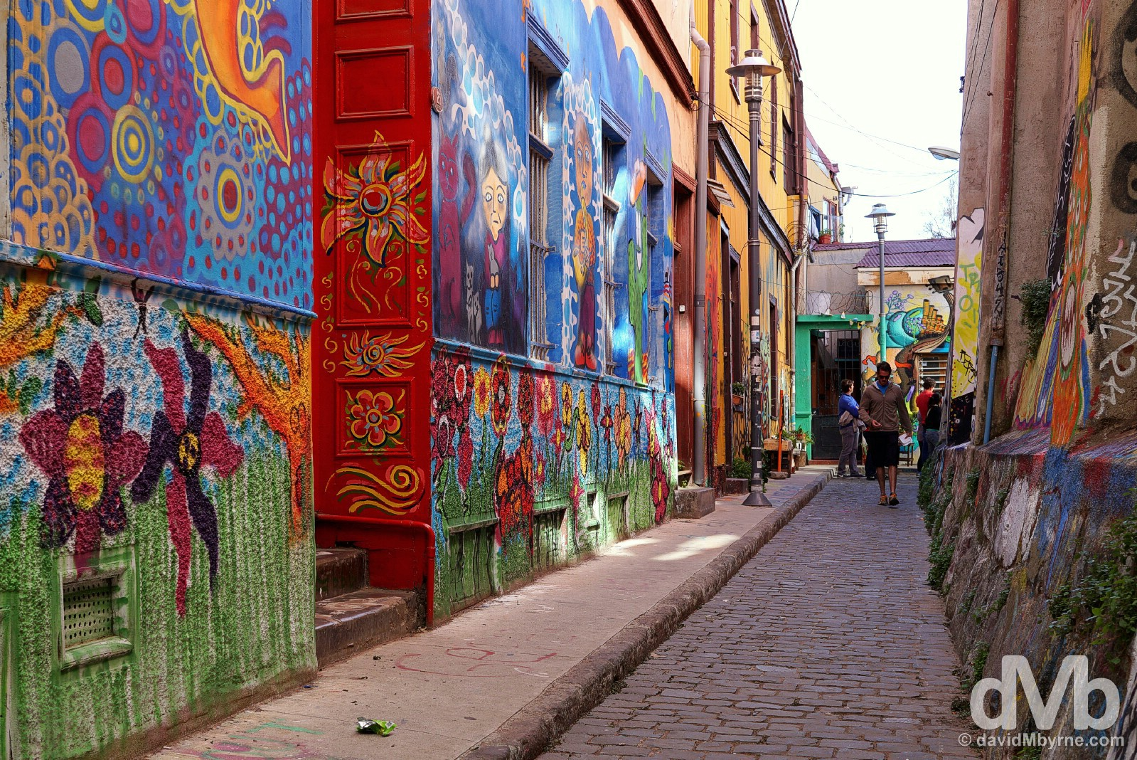 In the colourful, twisting lanes of Cerro Concepcion, Valparaiso, Chile. October 7, 2015.
