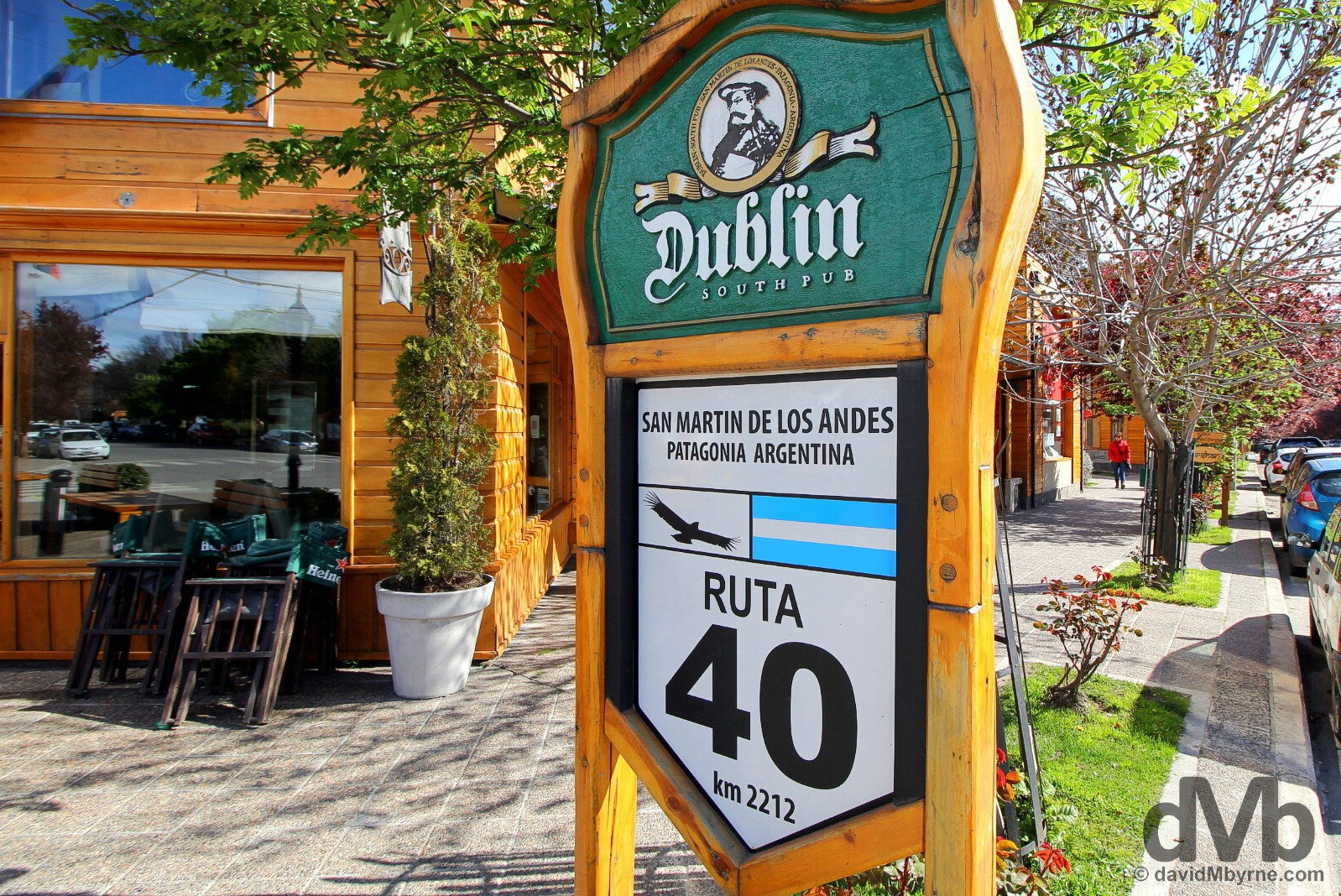 Kilometre 2212 on Ruta 40 in San Martin de los Andes, Patagonia, Argentina. October 14, 2015.
