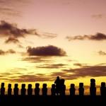 Awaiting sunrise at Ahu Tongariki, Easter Island, Chile. October 3, 2015.