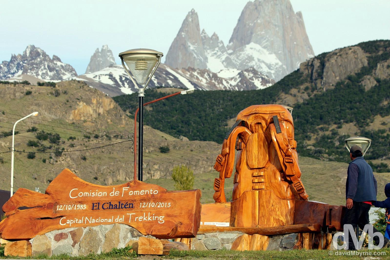 Avenida M. M. Guemes, El Chalten, southern Patagonia, Argentina. November 5, 2015.