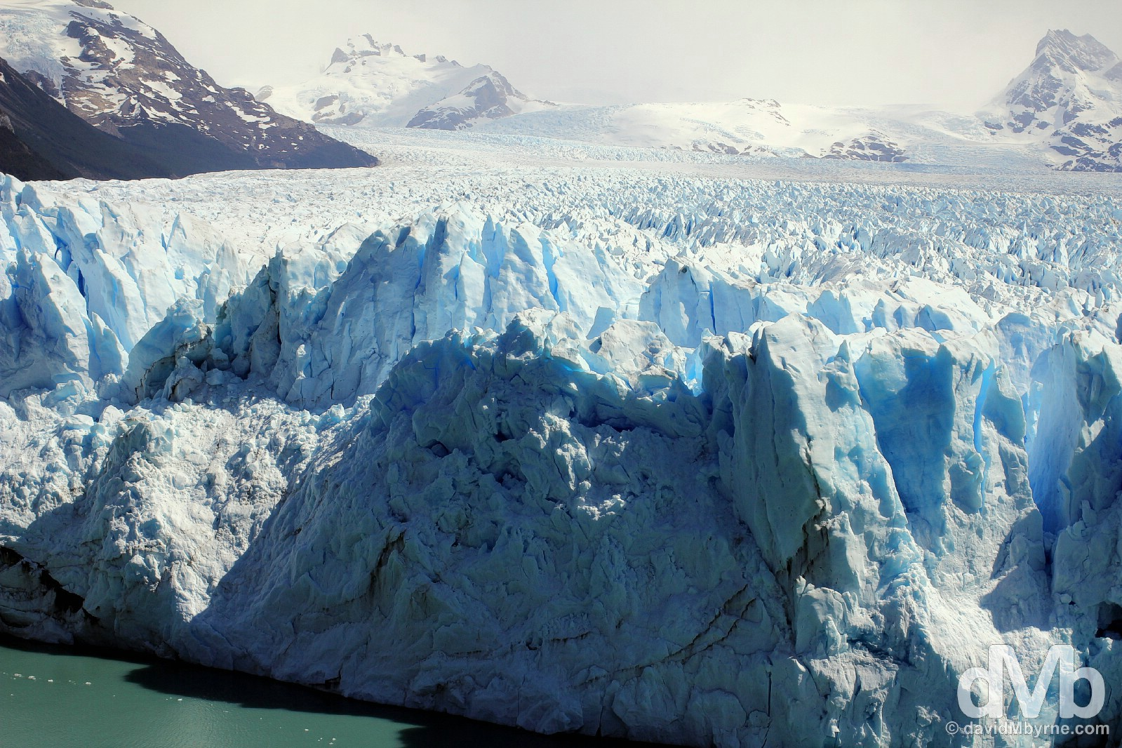 A section of the Perito Moreno Glacier in Parque Nacional Los Glaciares, Patagonia, Argentina. November 2, 2015.