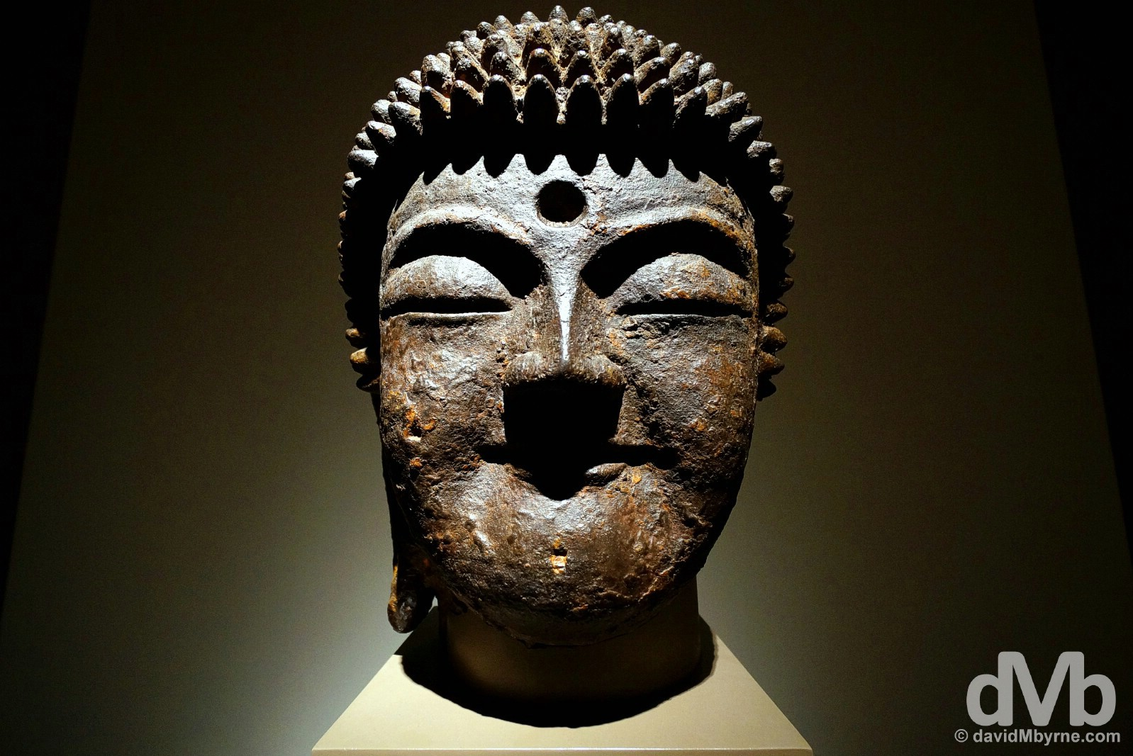 A Bodhisattva on display in the National Museum of Korea, Seoul, South Korea. January 25, 2015.