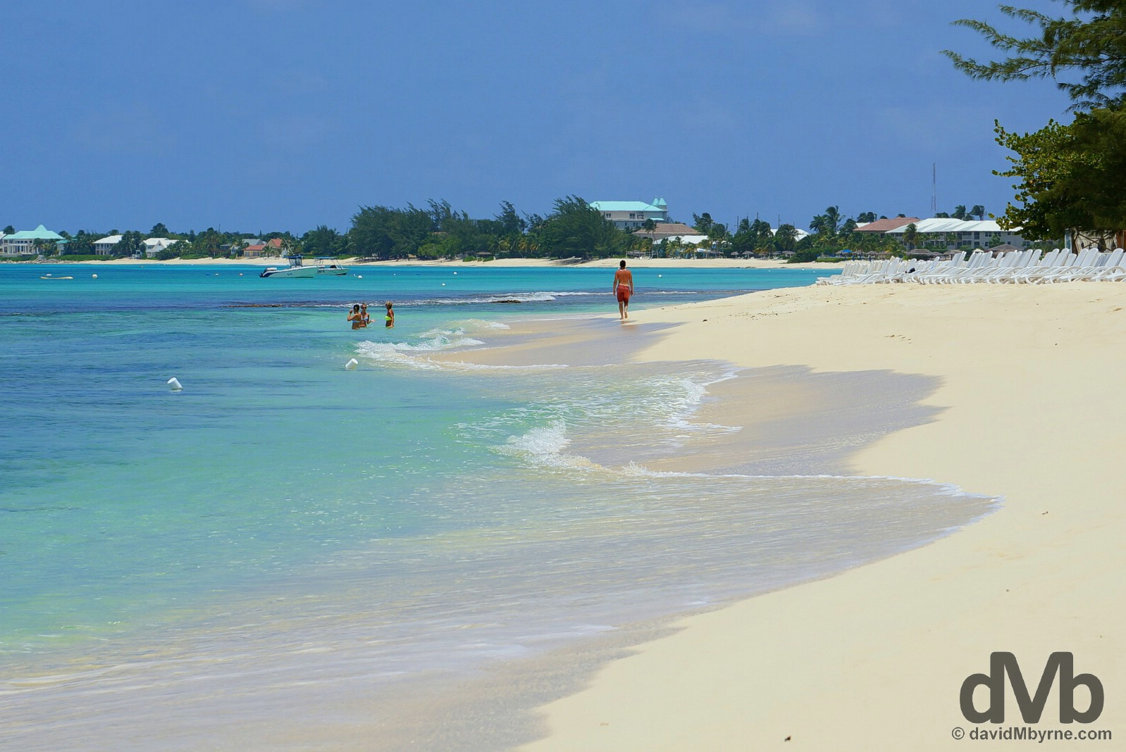 Seven Mile Beach on Grand Cayman, the Cayman Islands, Greater Antilles. May 12, 2015.