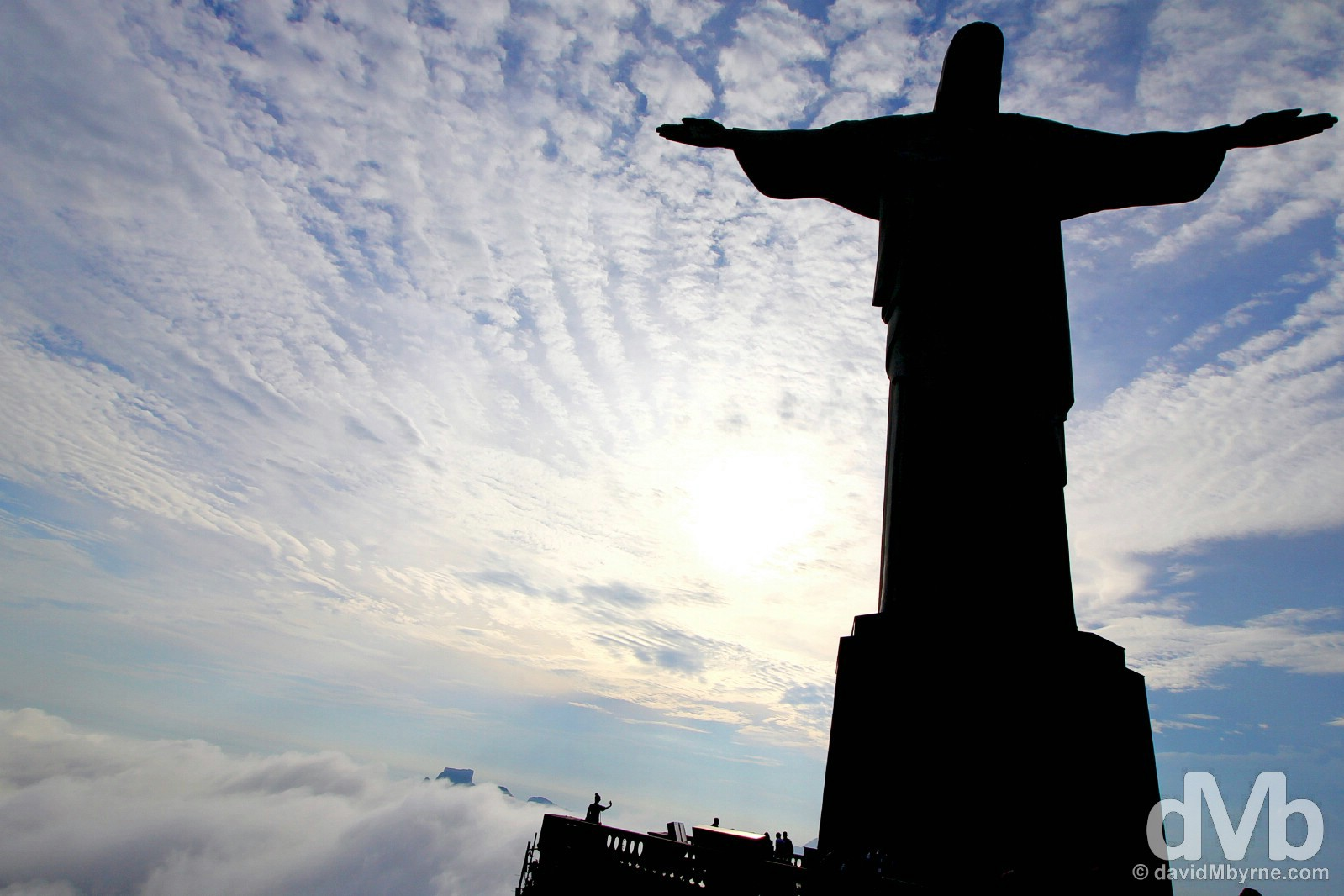 Christ the Redeemer atop Corcovado mountain in Tijuca Forest National Park, Rio de Janeiro, Brazil. December 12, 2015.