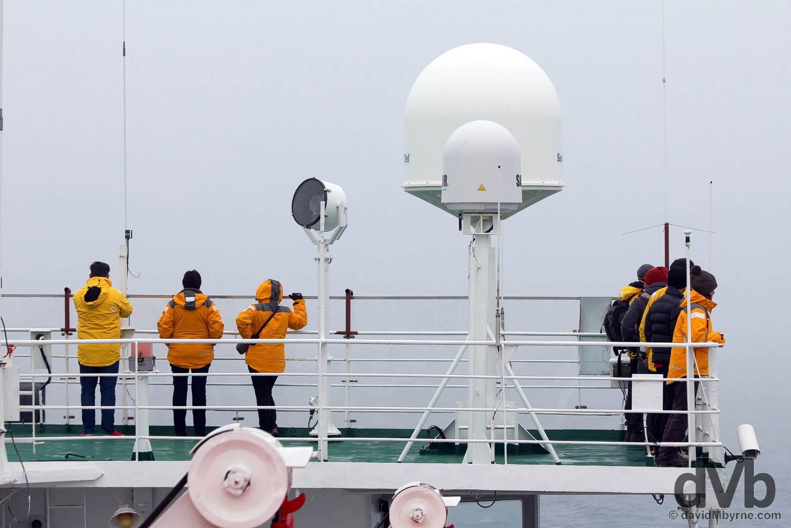 Arriving at the sub-Antarctic Aticho Island group of the South Shetland Islands on board the M/V Ocean Endeavour. November 28, 2015.