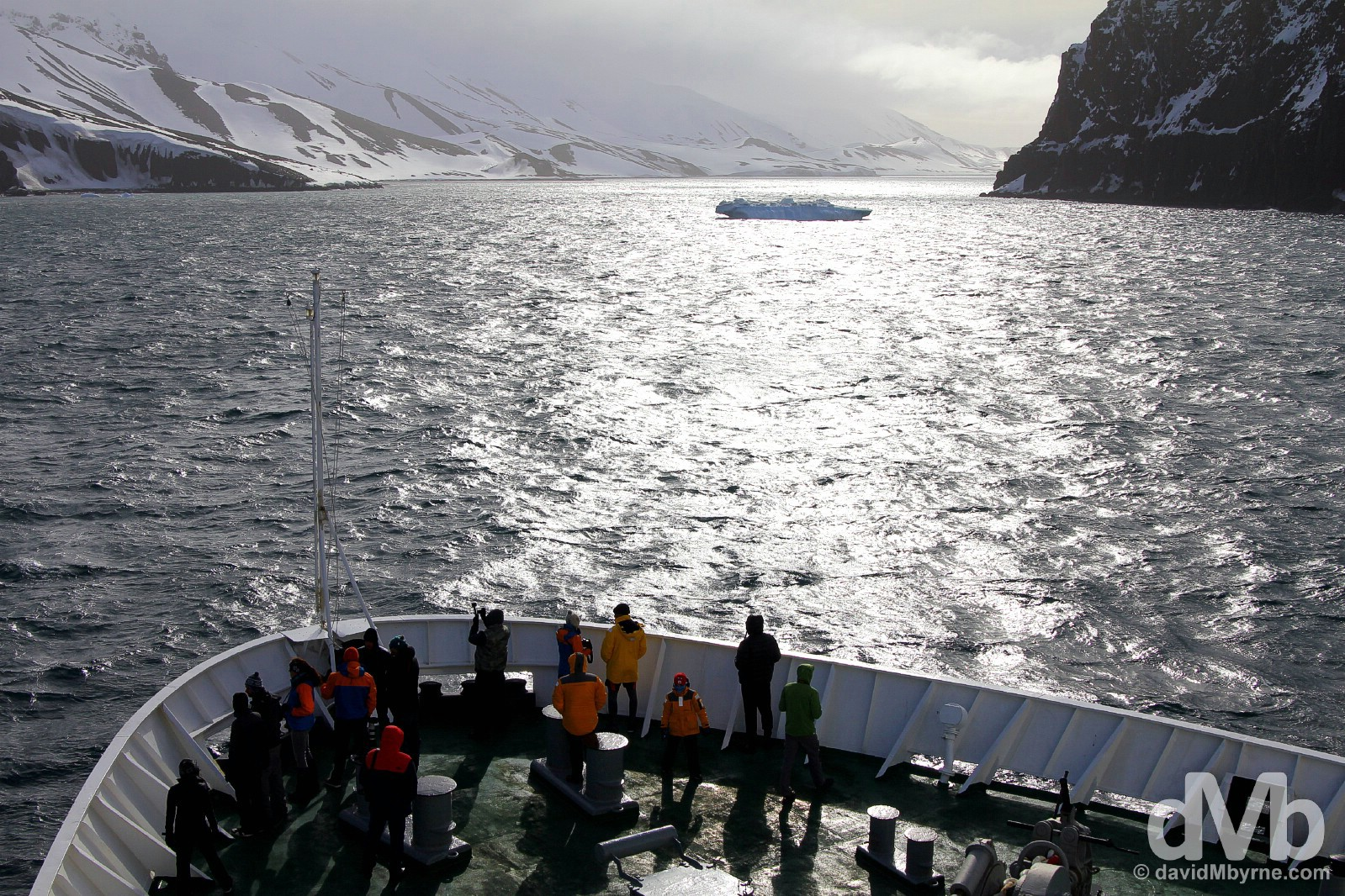 Blocked. Outside Neptune's Bellows, the narrow entrance to Deception Island, Antarctica. November 29, 2015.