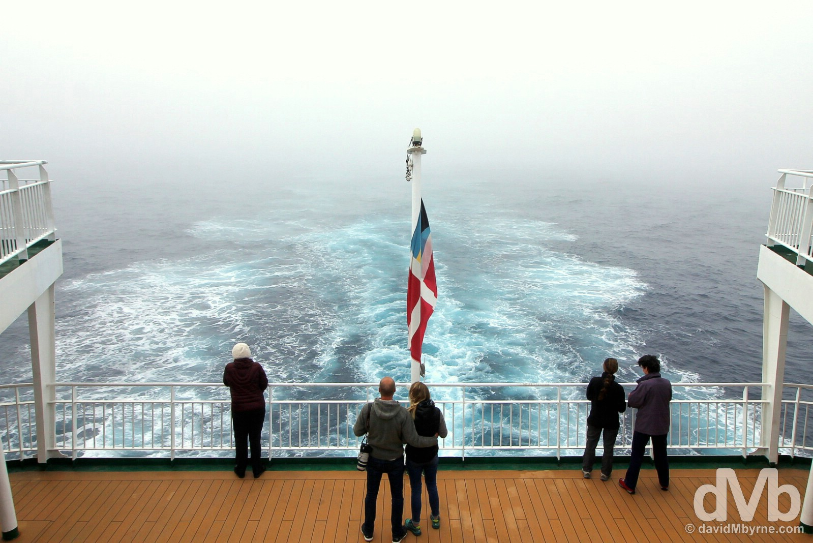 Plain sailing. Southbound across the notorious Drake Passage en route to the South Shetland Islands aboard the M/V Ocean Endeavour. November 27, 2015.