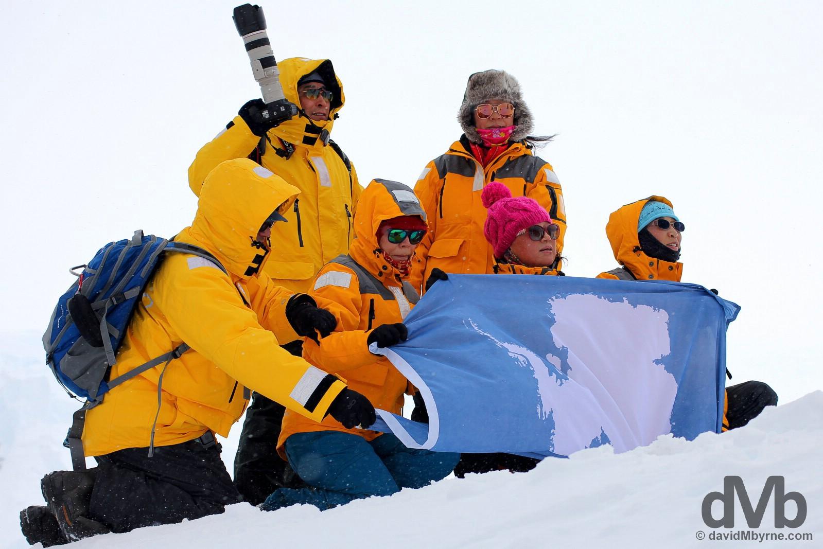The Chinese. Some of them. Neko Harbour, Antarctic Peninsula. November 30, 2015.