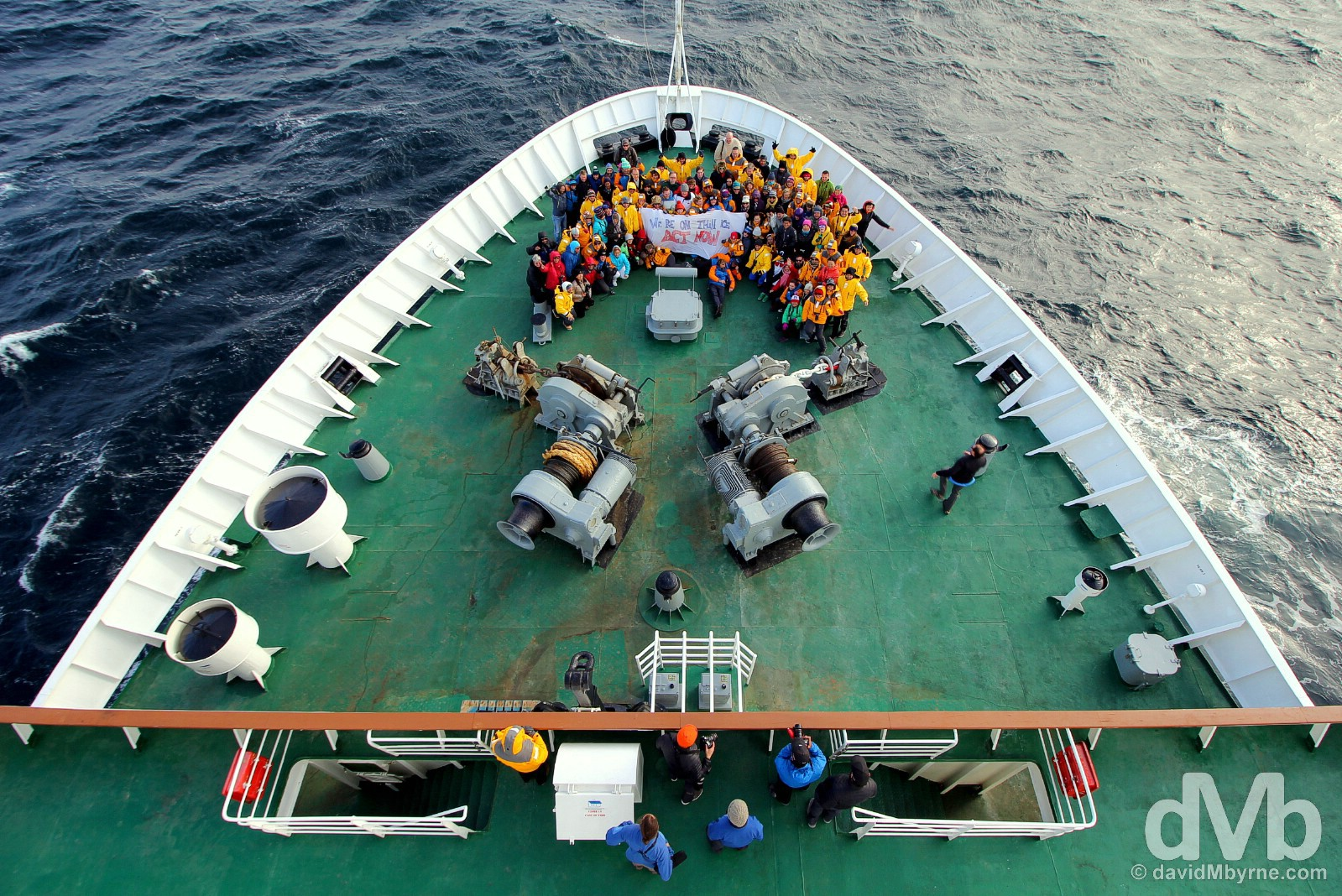 The message for COP 21, the November 30-December 12 2015 United Nations Climate Change Conference in Paris, is simple - We're on Thin Ice. On the M/V Ocean Endeavour in the Bransfield Strait, Antarctica. November 29, 2015.
