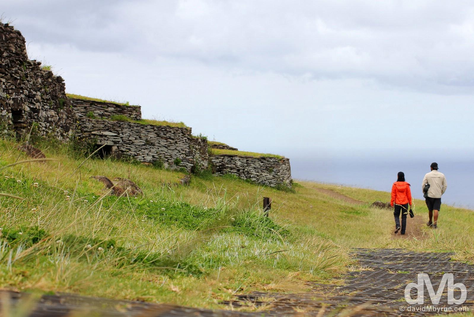 Orongo, Easter Island, Chile. September 28, 2016.