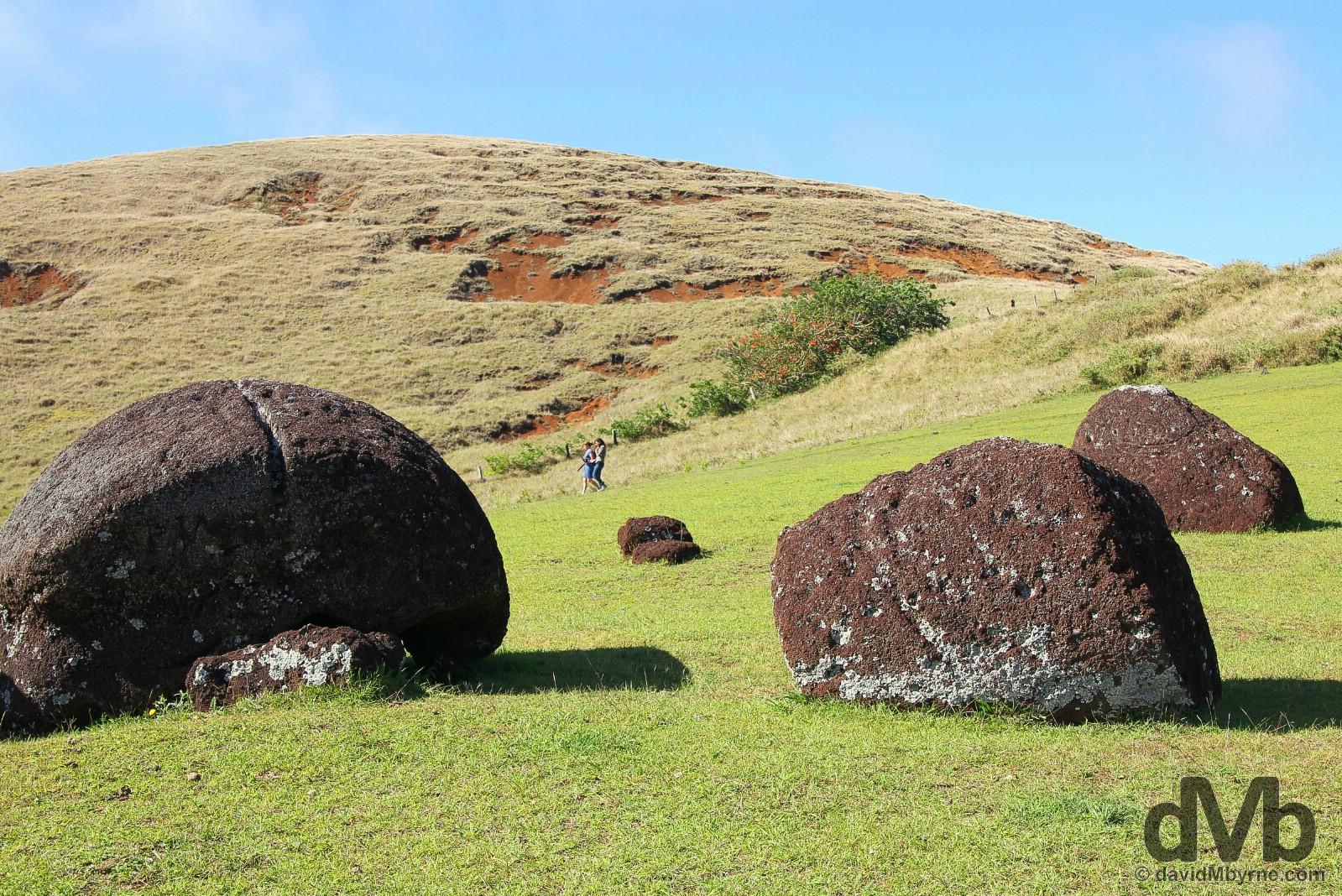 Puna Pau, Easter Island, Chile. October 1, 2016.