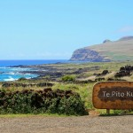 The entrance to Te Pito Kura, Easter Island, Chile. October 1, 2015.
