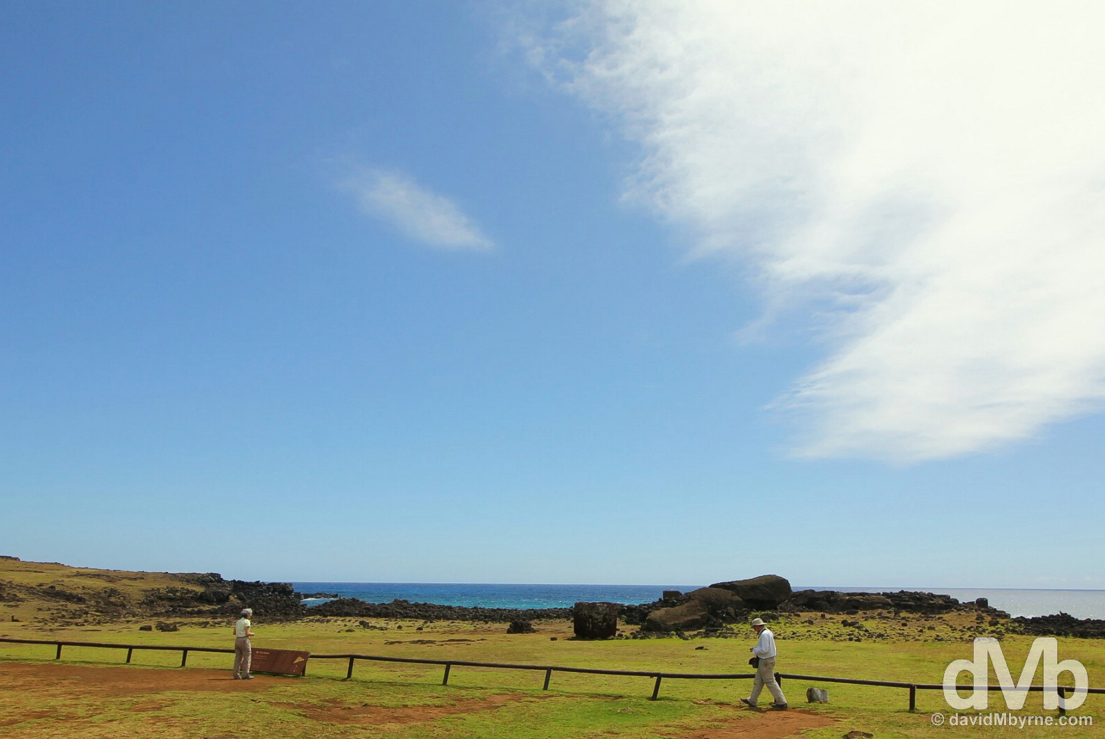 Fallen Te Pito Kura, the largest moai on Easter Island, Chile. October 1, 2016.