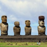 Six of the 15 moai of Ahu Tongariki, Easter Island, Chile. October 1, 2015.