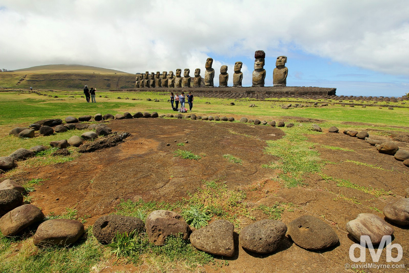 Ahu Tongariki, Easter Island, Chile. October 1, 2016.