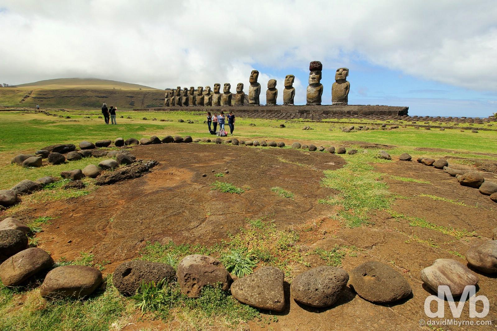 Ahu Tongariki, Easter Island, Chile. October 1, 2016.