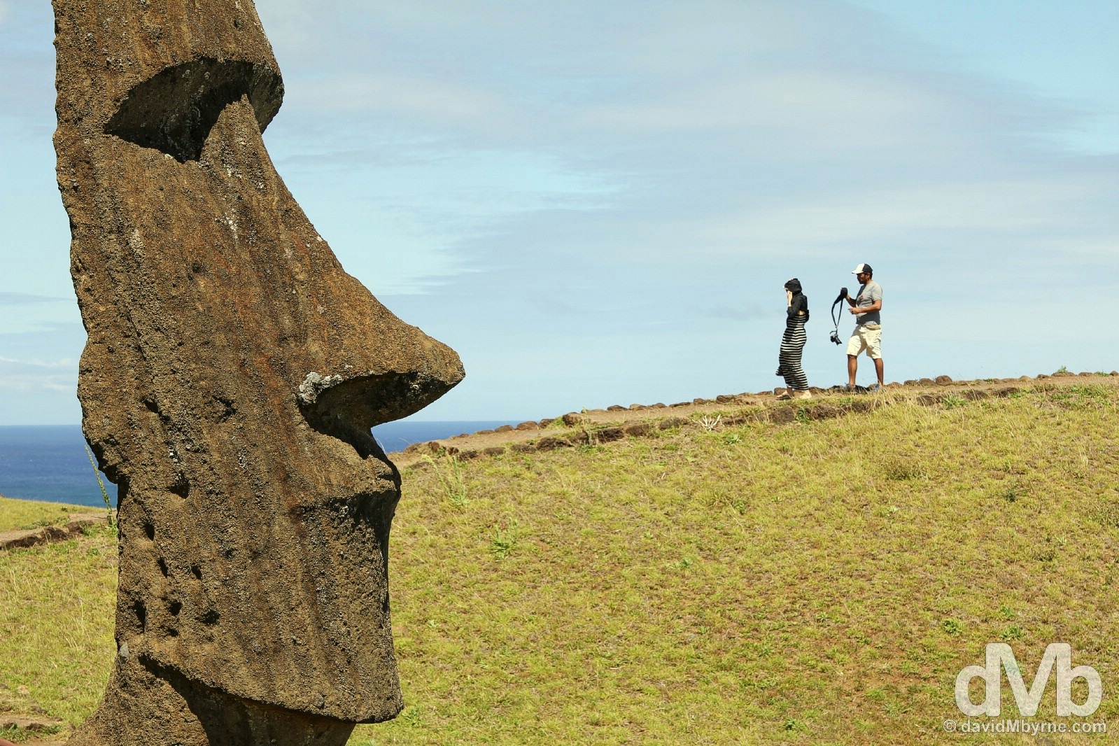 Rano Raraku, Easter Island, Chile. October 1, 2015.