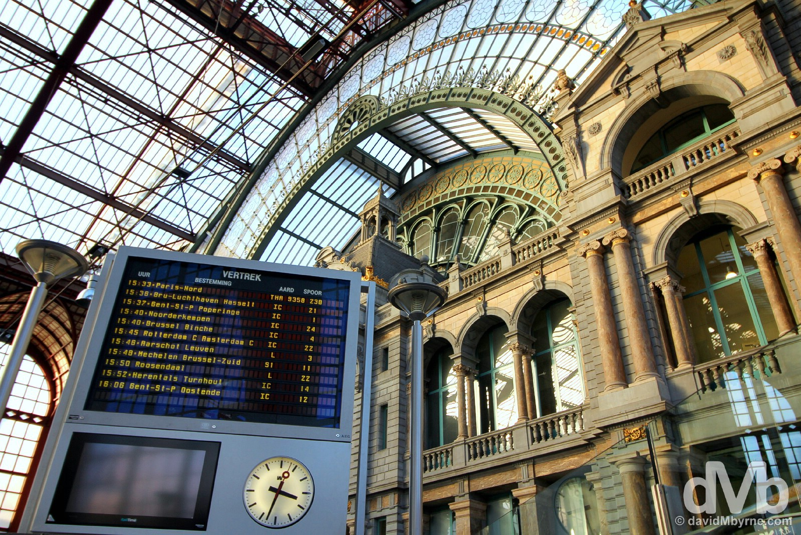 Central Station in Antwerp, Belgium. January 17, 2016.