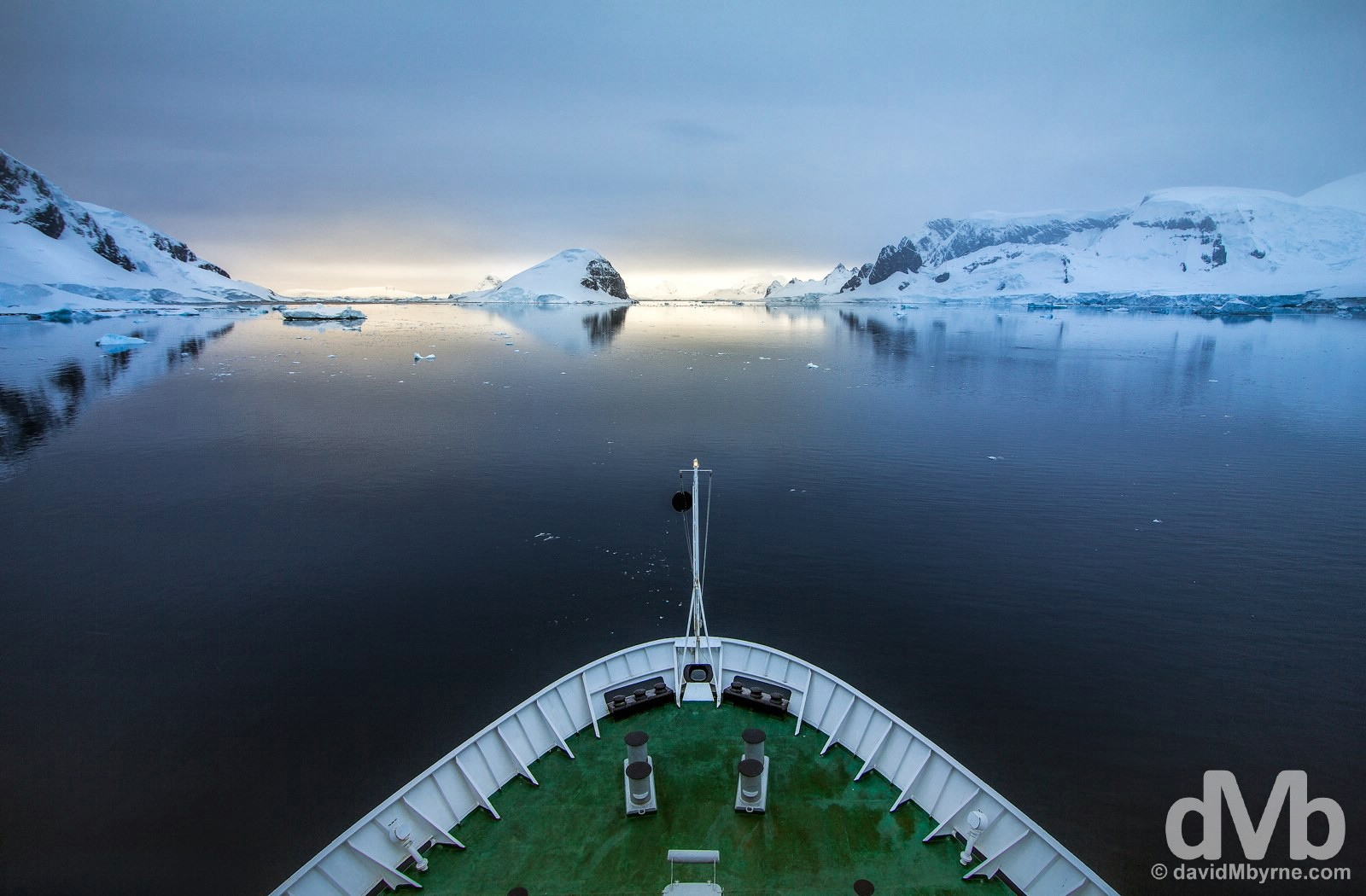 Early morning perfection in Paradise Harbour, Antarctica. December 2, 2015.