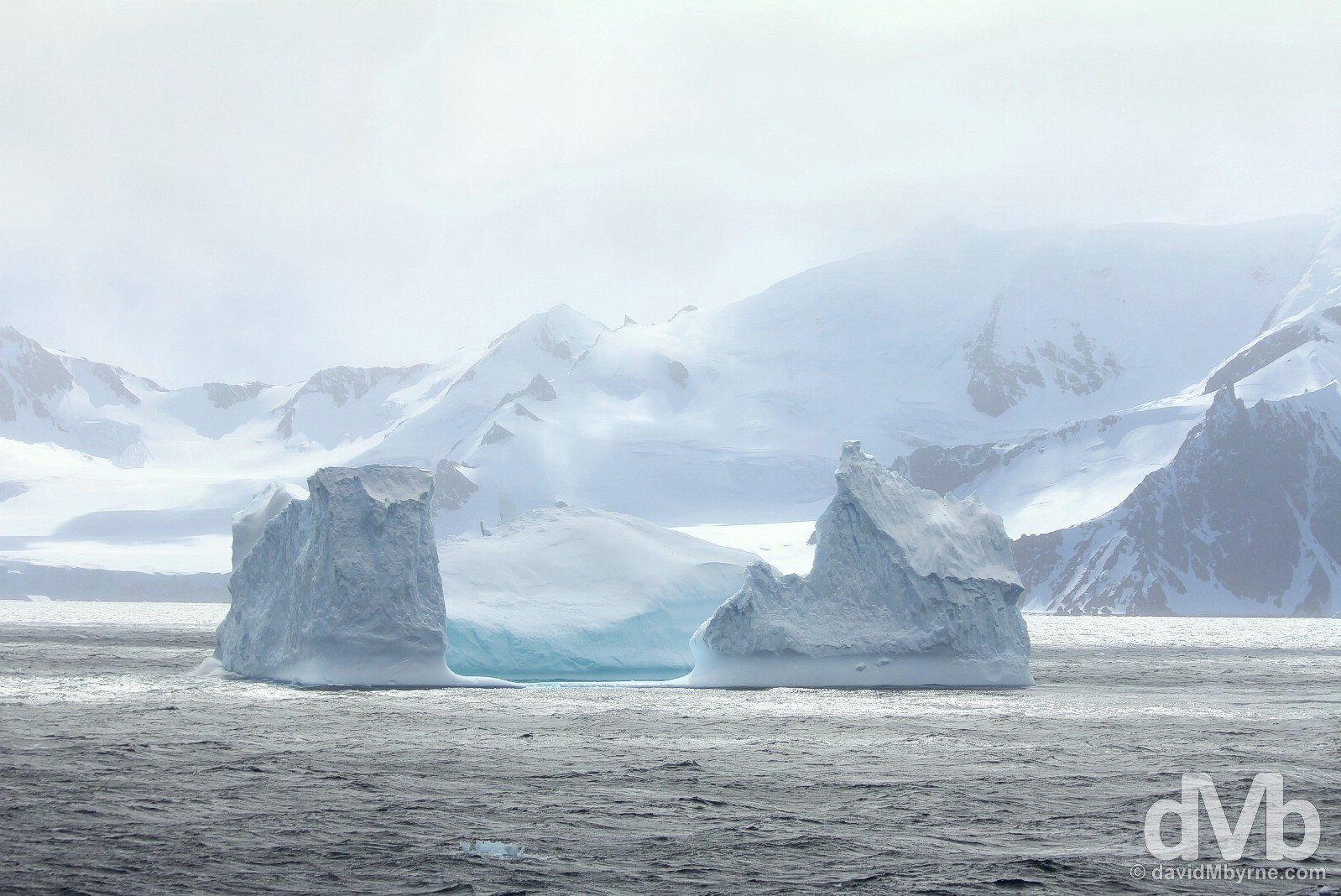 An iceberg in the Bransfield Strait, Antarctica. November 29, 2015.