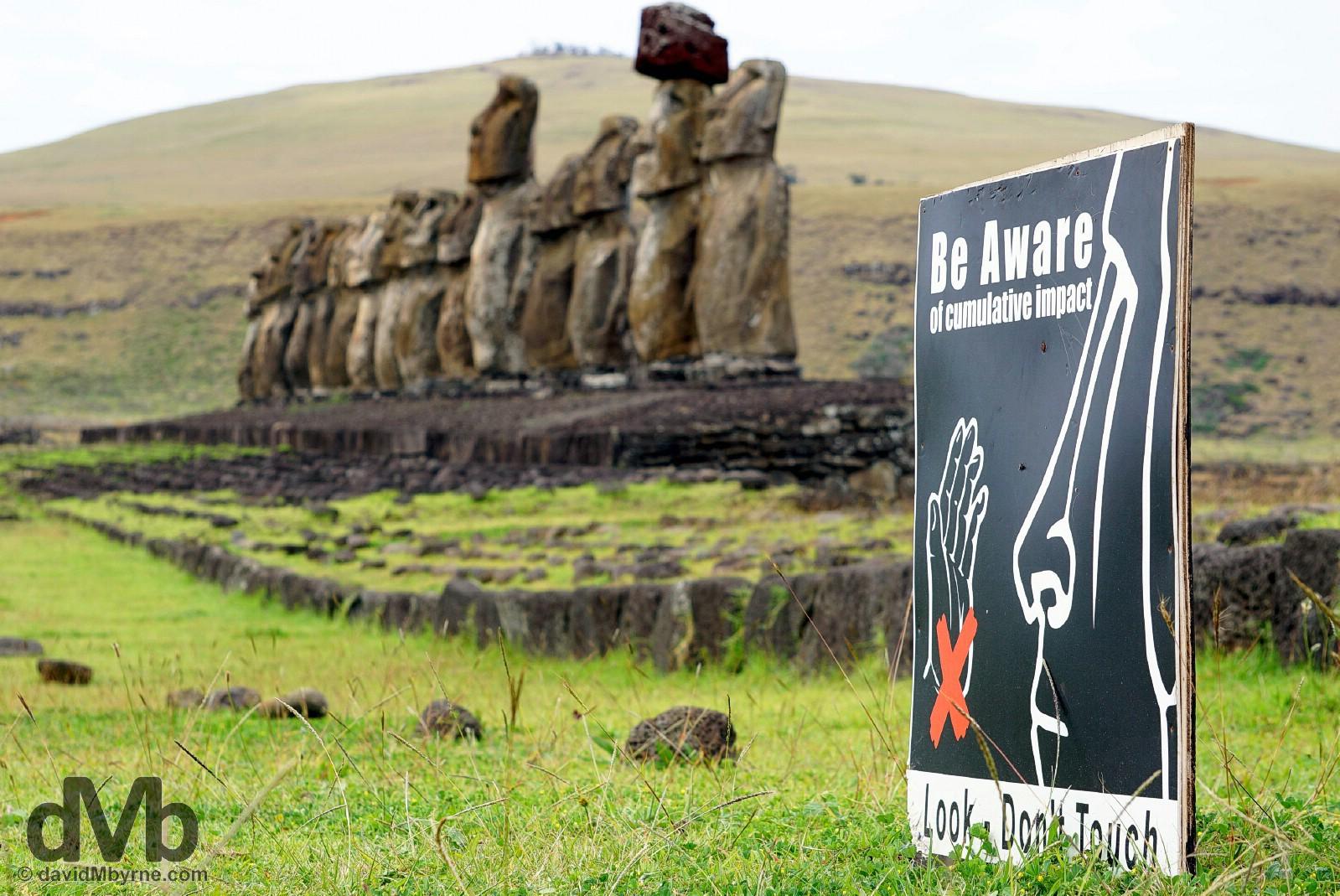 Ahu Tongariki, Easter Island, Chile. September 29, 2015.