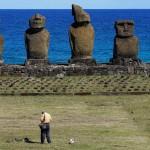 Tahai, Easter Island, Chile. September 30, 2015.