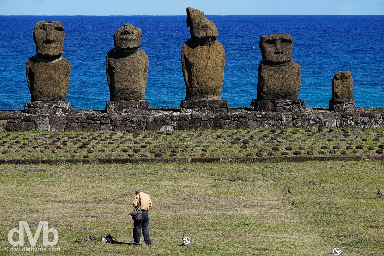 Tahai, Easter Island, Chile. September 30, 2015.