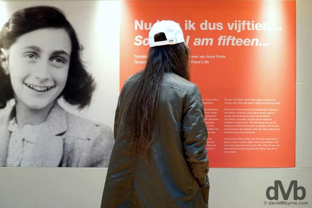 Anne Frank Huis (House) Museum, Amsterdam, Netherlands. January 18, 2016.