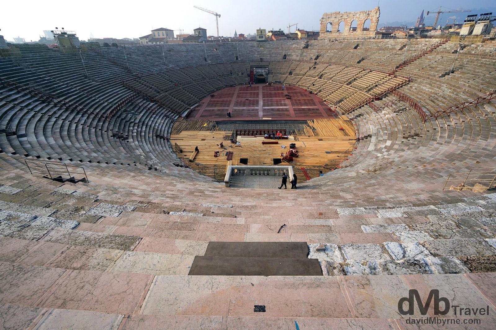 Arena di Verona in Verona, Italy. March 17, 2014.