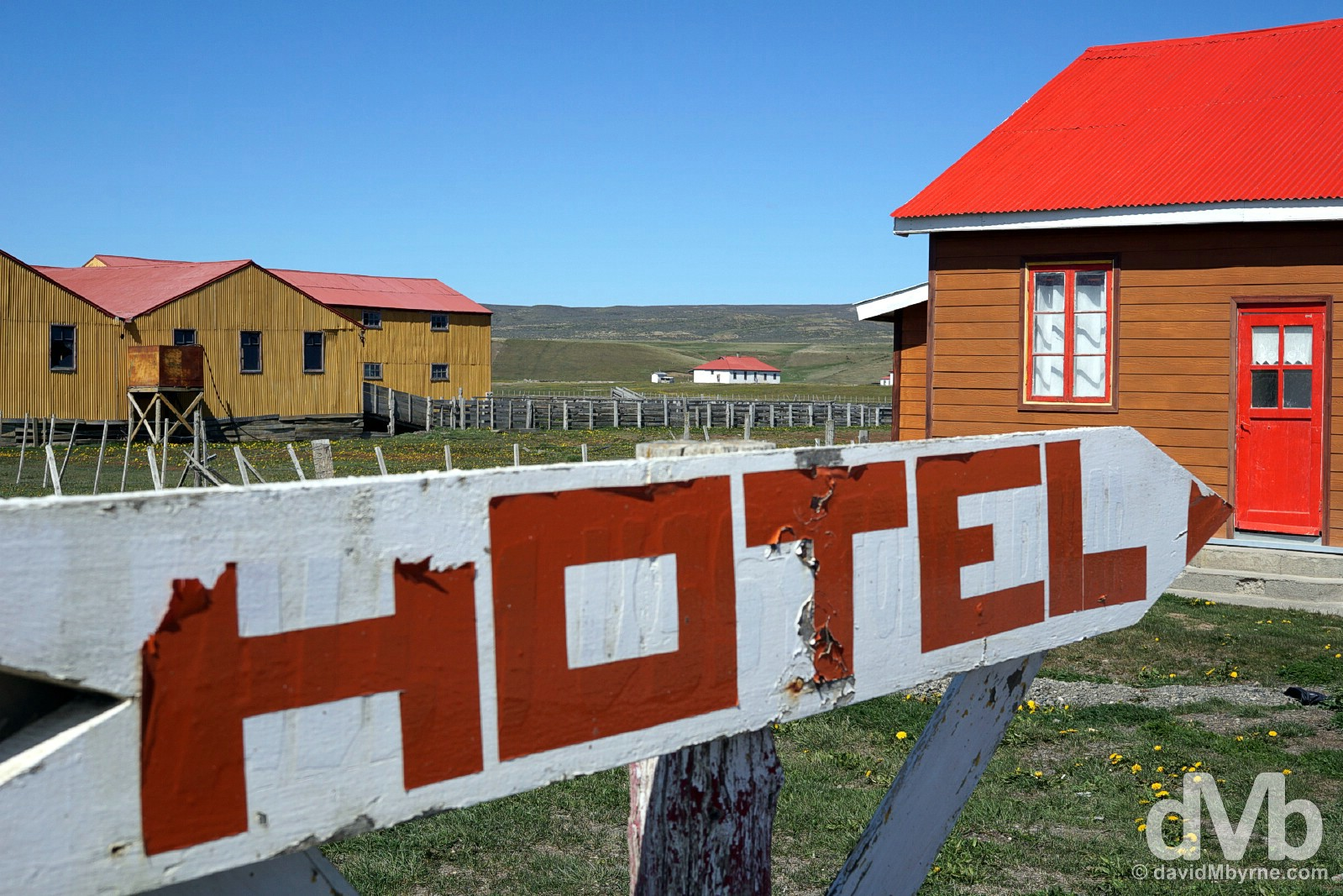 Buildings near the San Sebastian border crossing with Argentina in Tierra del Fuego, Chile. November 11, 2015.