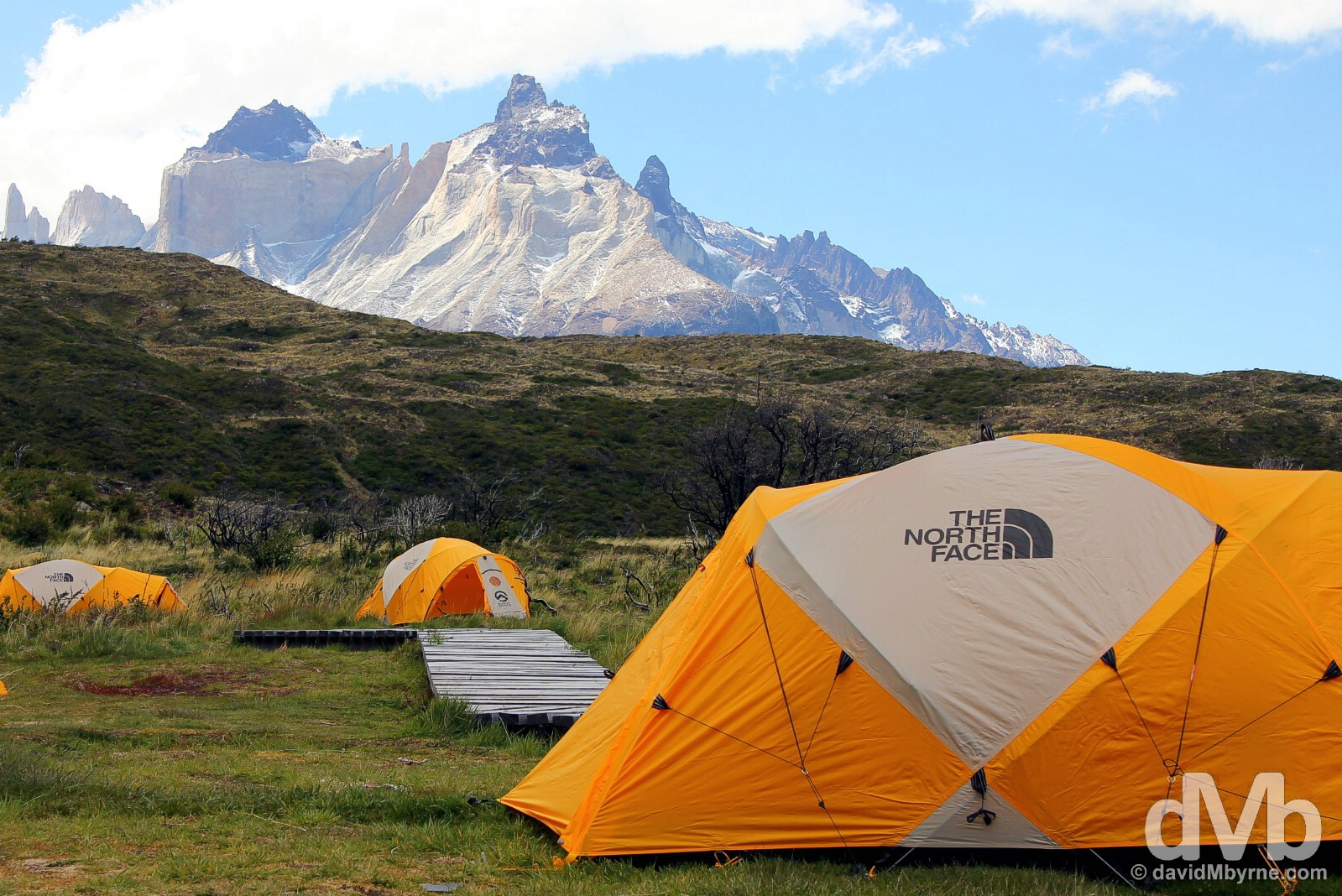 Campamento Paine Grande in Torres del Paine National Park, Chile. November 21, 2105.