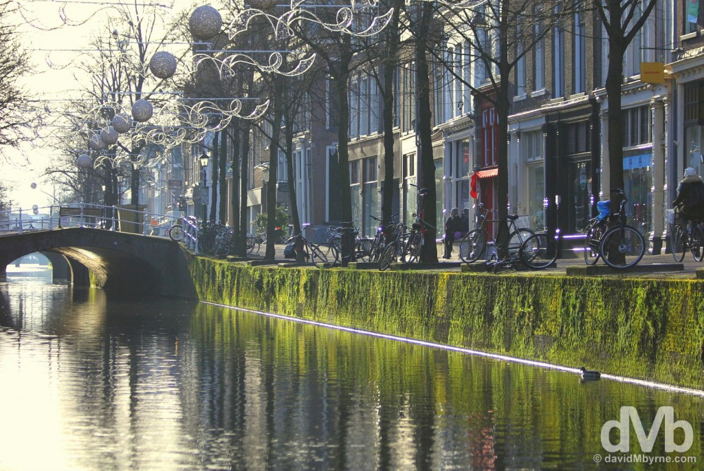 Early morning by the canals in Delft, Netherlands. January 18, 2016.