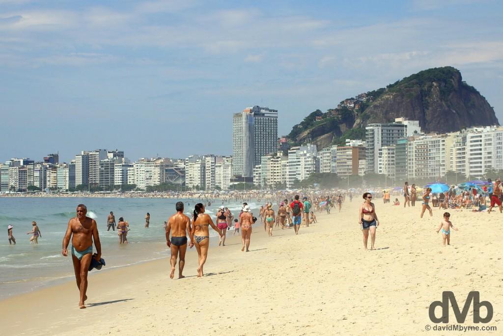 Copacabana Beach, Rio de Janeiro, Brazil. December 13, 2015.
