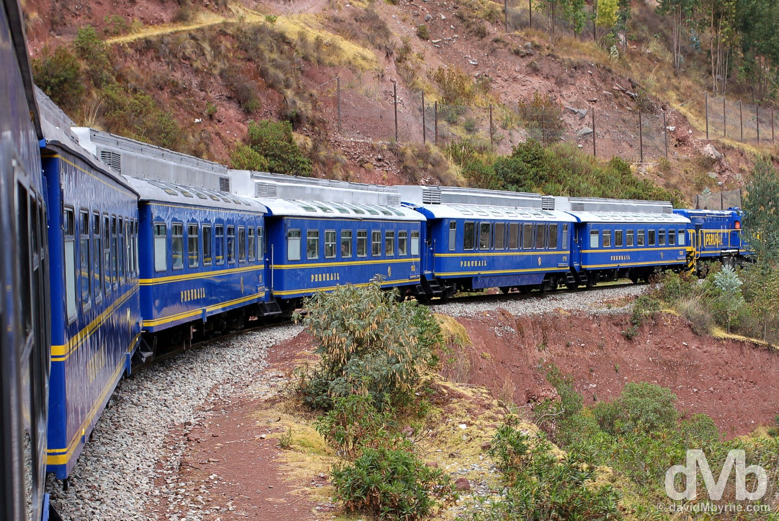 Peru Rail's 07:42 Expedition service from Cusco to Machu Picchu Peublo/Aguas Calientes, Peru. August 14, 2015.