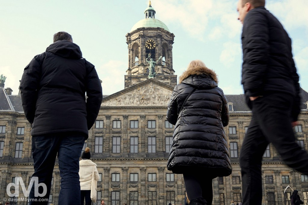 Dam Square, Amsterdam, Netherlands. January 19, 2016.