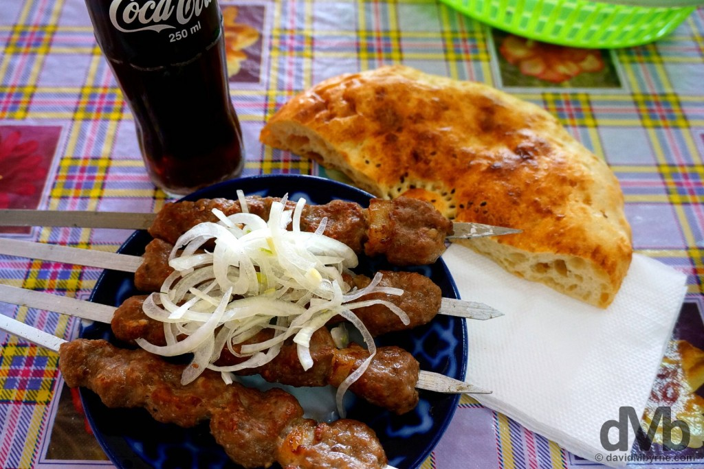 Dinner. Tashkent, Uzbekistan. March 17, 2015.