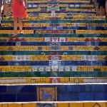 Escadaria Selarón, Rio de Janeiro Brazil. December 11, 2015.