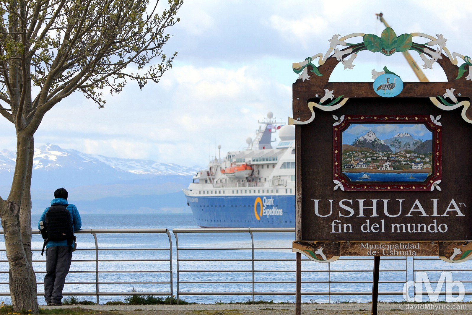 Ushuaia, Fin del Mundo (the End of the World), Tierra del Fuego, Argentina. November 15, 2015.
