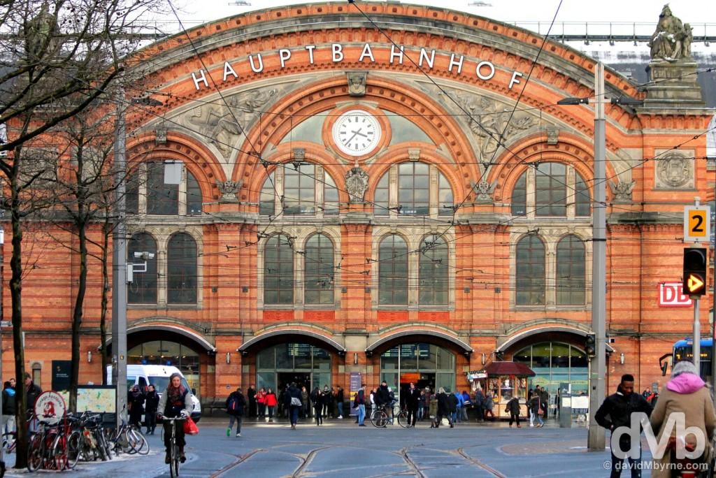 Hauptbahnhof, Bremen, Germany. January 20, 2016.