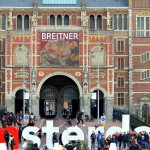 The I Amsterdam letters fronting Rijksmuseum in Amsterdam, Netherlands. January 19, 2016.