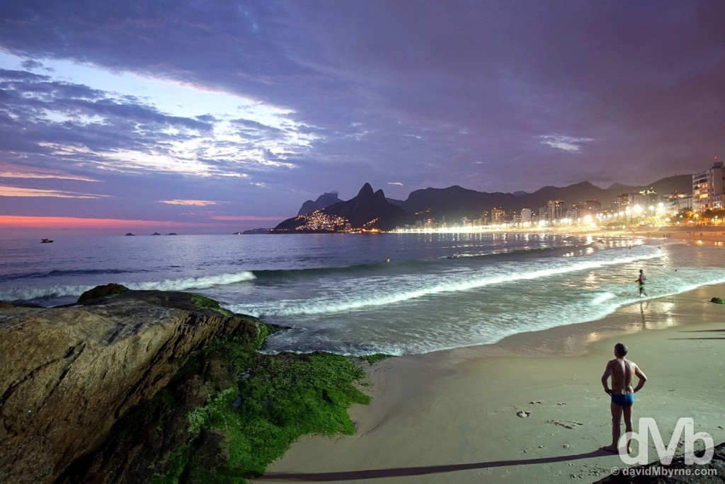 Ipanema Beach, Rio de Janeiro Brazil. December 11, 2015.