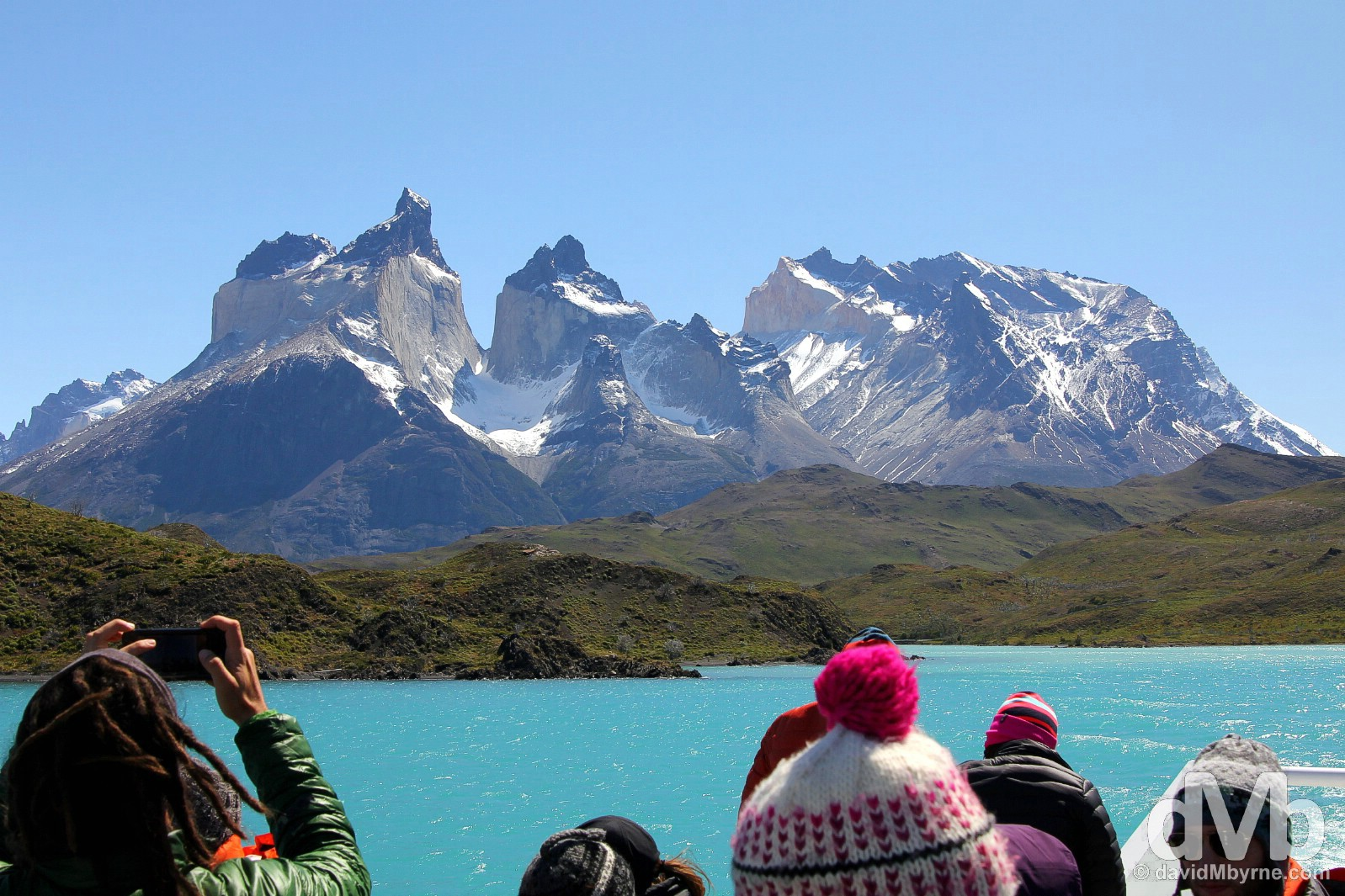 On Lago (Lake) Pehoe in Torres del Paine National Park, Chile. November 21, 2015.
