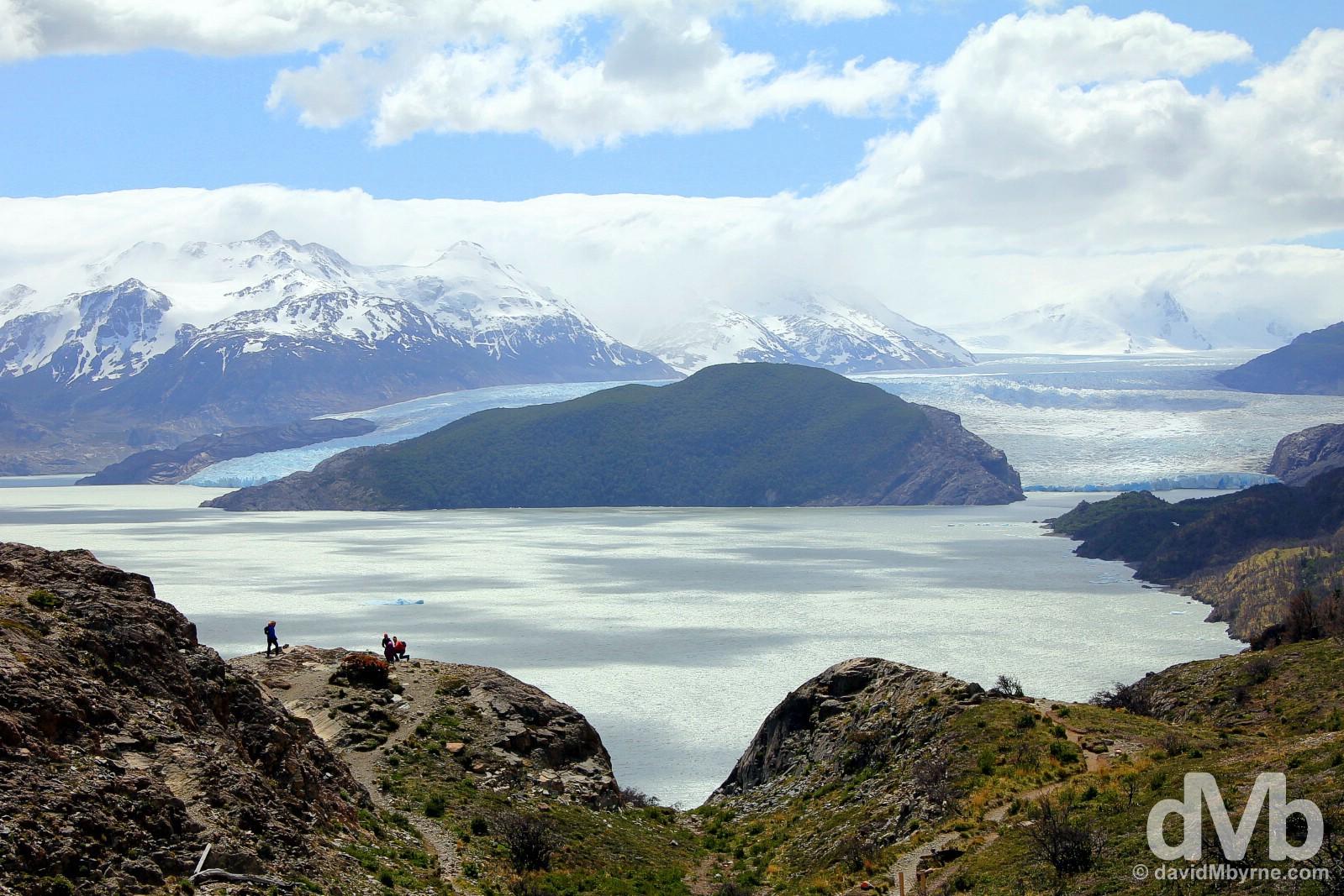 Lago (Lake) & Glaciar (Glacier) Grey in Torres del Paine National Park, Chile. November 21, 2015.