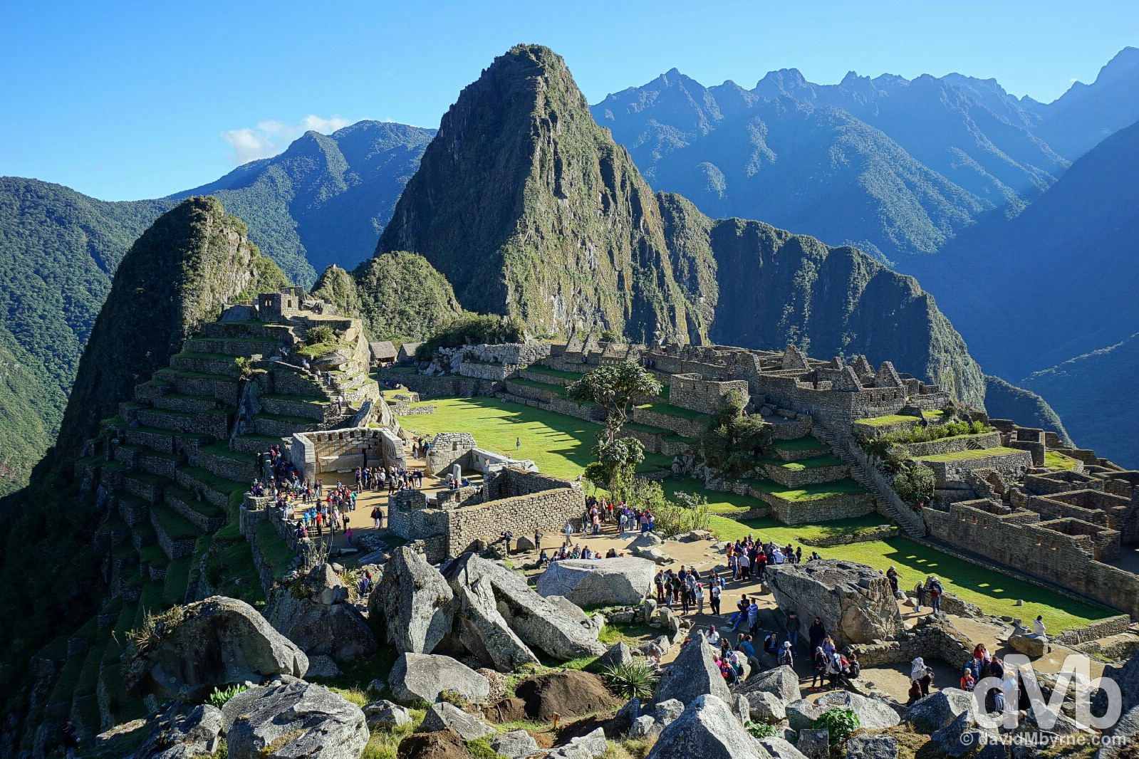 Early morning in Machu Picchu, Peru. August 15, 2015.
