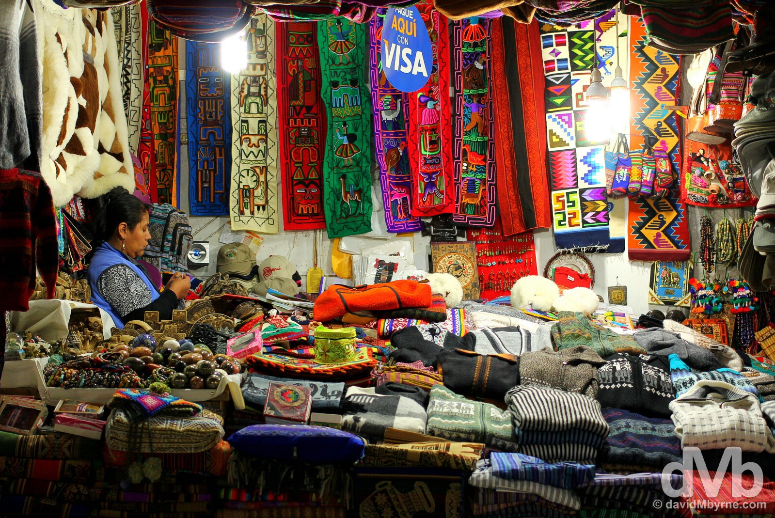 A market stall in Machu Picchu Peublo/Aguas Calientes, Peru. August 14, 2015.